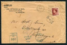 1937 (March 8th) GB W.M. Strang & Son, Glasgow, Postage Due, Taxe Cover - Copenhagen Denmark. Porto At Betale - Briefe U. Dokumente