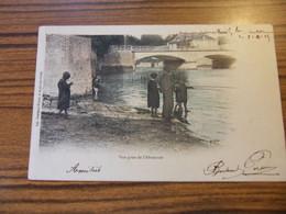 ARCIS SUR AUBE VUE PRISE DE L ABREUVOIR PECHEURS 1905 - Arcis Sur Aube