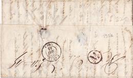23576# LETTRE Obl PARIS 1848 Au Dos M Dans Un Cercle ASSEMBLEE NATIONALE - 1801-1848: Precursors XIX