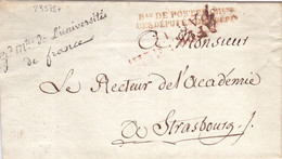 23578# LETTRE FRANCHISE GRAND MAITRE DE UNIVERSITE DE FRANCE BUREAU DE POSTES CHAMBRE DEPUTES DES DEPARTEMENTS - 1801-1848: Precursors XIX
