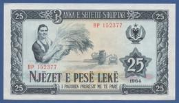 ALBANIA - P.37 –  25 LEKE 1964  UNC - Albania