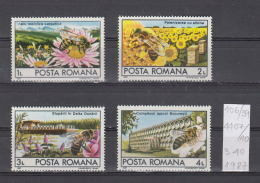39K106 / 1987 - Michel  Nr. 4407/10 - Bee Farming  ** MNH Romania Roumanie - Unused Stamps