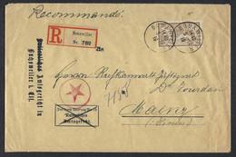 FRANCE Alsace-Lorraine 1916: LSC Rec. De Bouxwiller Pour Mainz,  Affr. De 50c Et CAD, Censure Française - Alsazia-Lorena