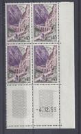 GORGES De KERRATA N° 1237 - Bloc De 4 COIN DATE - NEUF SANS CHARNIERE - 4/12/59 - 1960-1969