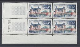 SULLY Sur LOIRE N° 1313 - Bloc De 4 COIN DATE - NEUF SANS CHARNIERE - 10/6/63 - 1960-1969