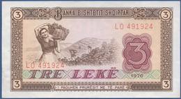 ALBANIA - P.41 –  3 LEKE 1976  SPL/ UNC Prefix LO - Albania