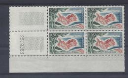 CÔTE D'AZUR VAROISE N° 1391 - Bloc De 4 COIN DATE - NEUF SANS CHARNIERE - 25/9/63 - 1960-1969
