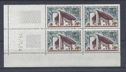 RONCHAMP N° 1435 - Bloc De 4 COIN DATE - NEUF SANS CHARNIERE - 16/11/64 - 1960-1969