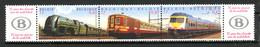 BE   2993 - 2995  XX   ---   Trains : SNCB  --  Bande De 3 + Vignettes - Neufs