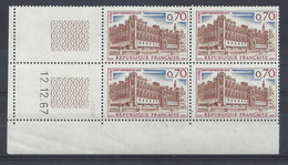 ST-GERMAIN En LAYE N° 1501 - BLOC De 4 COIN DATE - NEUF SANS CHARNIERE - 12/12/67 - 2 Traits - 1960-1969
