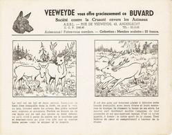 """Rare : Ancien Buvard Veeweyde """"Le Cerf"""" Jamais Utilisé (années 1950) - V"""
