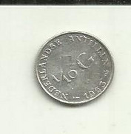 1/10 Gulden 1963 Antilhas Holandesas Silver - Netherland Antilles