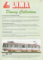 Cataogue LIMA 1998 Düwag Collection Straßenbahnmodelle HO & N - Duits