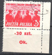 Poland 1949 - Trade Union Congress - Mi.527 - Used - Used Stamps