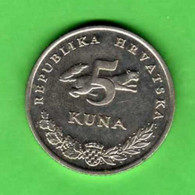 CROAZIA CROATIA KROATIEN CROATIE HRVATSKA - 2000 - 5 KUNA - KM 22 AUNC - Croatia