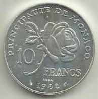 10 Francos 1982 Monaco Silver - Unclassified
