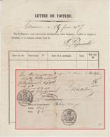 Schweiz/Bayern - Lausanne 1847 Frachtbrief N. Würzburg - ...-1845 Voorlopers