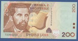 ALBANIA - P.67 –  200 LEKE 2001  UNC Prefix TD - Albania