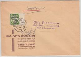 DR - 8 Pfg. Danzig/Überdruck Geschäftspapiere Königsberg - Berlin 1940 - Brieven En Documenten