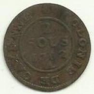 2 Sous 1782A Guyana (Cayenne) - Guyana