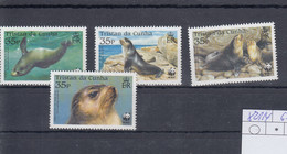 Tristan Da Cunha Michel Cat.no. Mnh/** 821/824 Seals Wwf - Tristan Da Cunha
