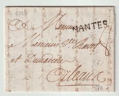 NANTES Sur Lettre De 1787 Pour Orléans - 1701-1800: Vorläufer XVIII