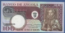 ANGOLA - P.106 –  100 ESCUDOS 1973 UNC Prefix JK - Angola
