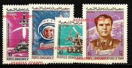YEMEN PDR PEOPLE'S DEMOCRATIC REPUBLIC (SOUTH) 1976 MINT SET MNH ** SOVIET COSMONAUTS AND SPACE PROGRAM ROCKET MOON - Zonder Classificatie