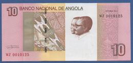 ANGOLA - P.151B –  10 KWANZAS 2012 UNC Prefix WZ - Angola