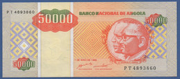 ANGOLA - P.138 –  50.000 Kwanzas Reajustados 1995 UNC Prefix PT - Angola