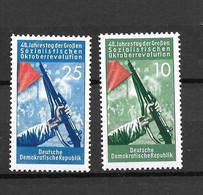1957- DDR - MNH** -  Mi 601 602 - Neufs
