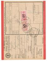 Spoorweg Adreskaart 's-Gravenhage 1936 50 Cent Geel + 20 Cent ROOD - Tren