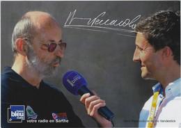 AUTOMOBILISME. Carte Postale De Henri PESCAROLO Interviewé Par Bruno VANDESTICK - Le Mans