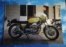 GUZZI 750 SPORT BICILINDRICA 4 TEMPI - 206 KMH - CPSM ECRITE EN 1976 - IMPRIME EN ITALIE - Motociclismo