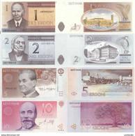 ESTONIA 1 2 5 10 Krooni 1992 - 2007 P 69 76 85 86 UNC Set Of 4 Banknotes - Estonia