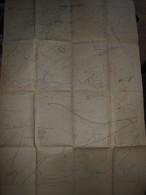 Carte Topographique Militaire Du Fort De Vaux Avec Position Des Lignes De Tranchées Françaises Au 30 Août 1916 - Mapas Topográficas