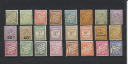 24 Timbres Taxes  Neuf Trace Charniere - Strafport