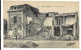 59-SIN LE NOBLE- La Rue Nationale...1925  Ruines - Sin Le Noble