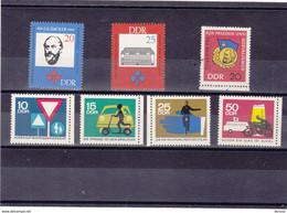 RDA 1966  Yvert 858-859 + 865-869 NEUF** MNH - Ongebruikt
