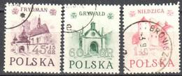 Poland 1952 Historic Buildings - Mi 767-69 - Used - Usati
