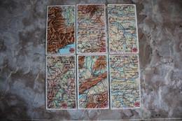 Lot De  6  Chromos Anciens Chocolat SUCHARD  Carte De France   Lot 41 - Suchard