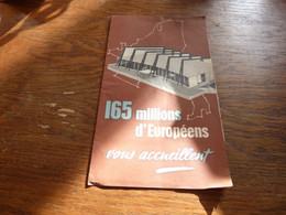 Exposition Bruxelles 1958 Expo 58 Pavillon De La COmmunauté Européenne - Advertising