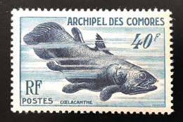 ARCHIPEL Des COMORES 1954 - NEUF**/MNH - YT 13 - POISSON COELACANTHE - RARE - LUXE - CV30 EUR - Ongebruikt