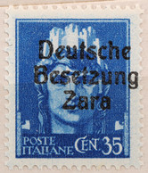 DE013 - ZARA 1943 -  35 CENT  -  FRANCOBOLLI DEL REGNO SOPRASTAMPATI DA ESAMINARE- MNH - Deutsche Bes.: Zara
