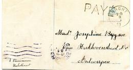 1919 Ronde Stempel BURGHT+ PAYE - Fantasiekaart Naar Antwerpen   - ( Nu BURCHT ) - Other