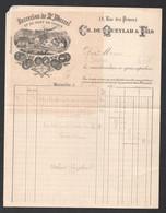 1897 FACTURE ILLUSTREE / VERRERIES ST MARCEL ET DU PONT DE VIVAUX  RUE DES PRINCES MARSEILLE DE QUEYLAR    C2110 - 1800 – 1899