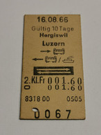 Suisse Billet , Hergiswill Luzern 1966 - Europa