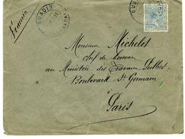 España 1891 Carta  25c Azul Muy Claro Y Bonito Centraje GUADIX GRANADA   EL796 - Cartas