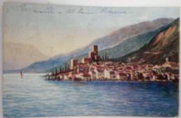 MALCESINE - VERONA - LAGO DI GARDA - PANORAMICA DAL LAGO - 1906 - Verona