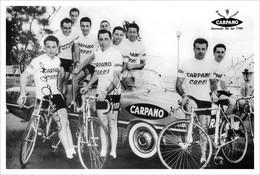 PHOTO RIGIDE, TEAM CARPANO - COPPI 1956 FORMAT 15 X 22,5 - Ciclismo